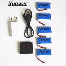 H107 3.7V 500mAh LiPo Battery with USB charger plug Hubsan H107 h107c H107P JXD385 YD928 U816 rc Wltoys Walkera Quadcopter 5pcs