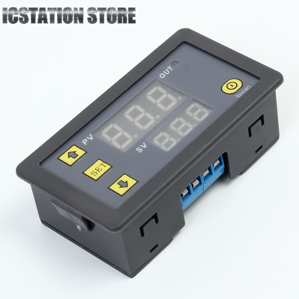 Free Shipping 12V Timing Delay Relay Module Cycle Timer Digital LED Dual Display 12v timing delay relay module cycle timer digital led dual display 0 999 hours