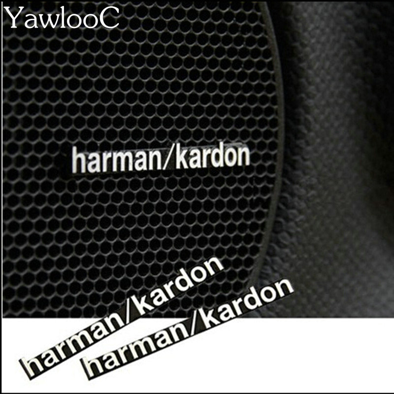 купить 3D Harman/Kardon hi-fi speaker stereo speaker aluminum badge emblem Sticker Car Accessories Styling недорого
