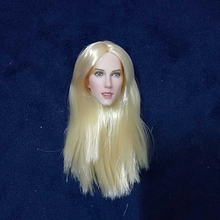 1/6 Jessie Burton Head Carving Blond Long Hair for 12Pale Bodies Action Figures