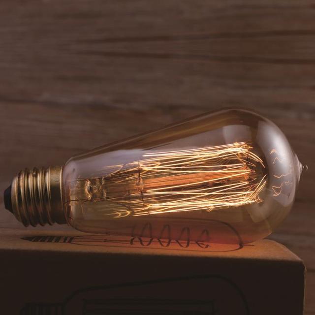 AC220V 40W Antique Vintage Retro Edison Bulbs E27 Spiral Incandescent Light ST58 LED Edison Lamp For Pendant Lamp Lighting