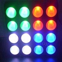 6 шт./лот свет диско 16 глава 30 Вт пиксель rgb led Панель Блиндер матрица мыть