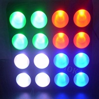 6pcs/lot Disco Light 16 Head 30W RGB LED Pixel Panel Blinder Matrix Wash