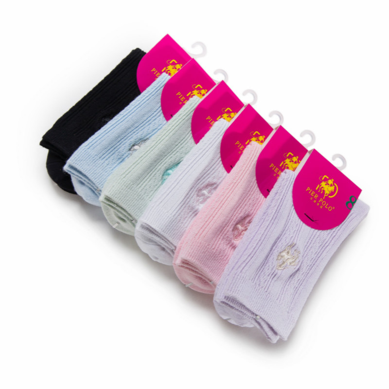 2018 Solid Акция Для женщин носки Pier поло вышитые Для женщин носки с парой сосны, все хлопковые красивые носки оптовая продажа