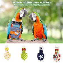 Pet Clothes Bird Parrot Diaper Flight Suit Nappy Washable For Parakeet Cockatiels Pigeons Medium Large