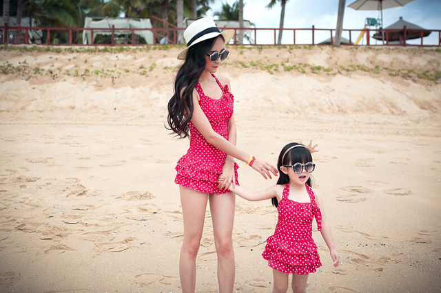 Girls and Mothers Swim Wear Family Swimwear New Summer Floral Fashion Swim Suit