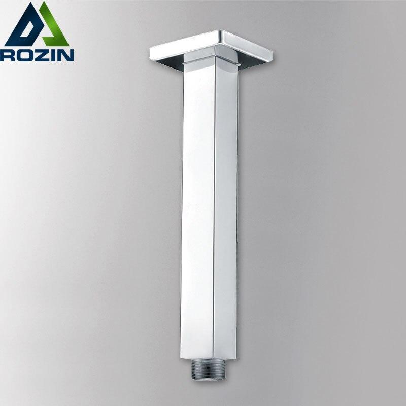 Kostenloser Versand Dusche Wasserhahn Fix Arm Chrome Messing Wand Decke Montiert Dusche Arm Rohre Clear-Cut-Textur