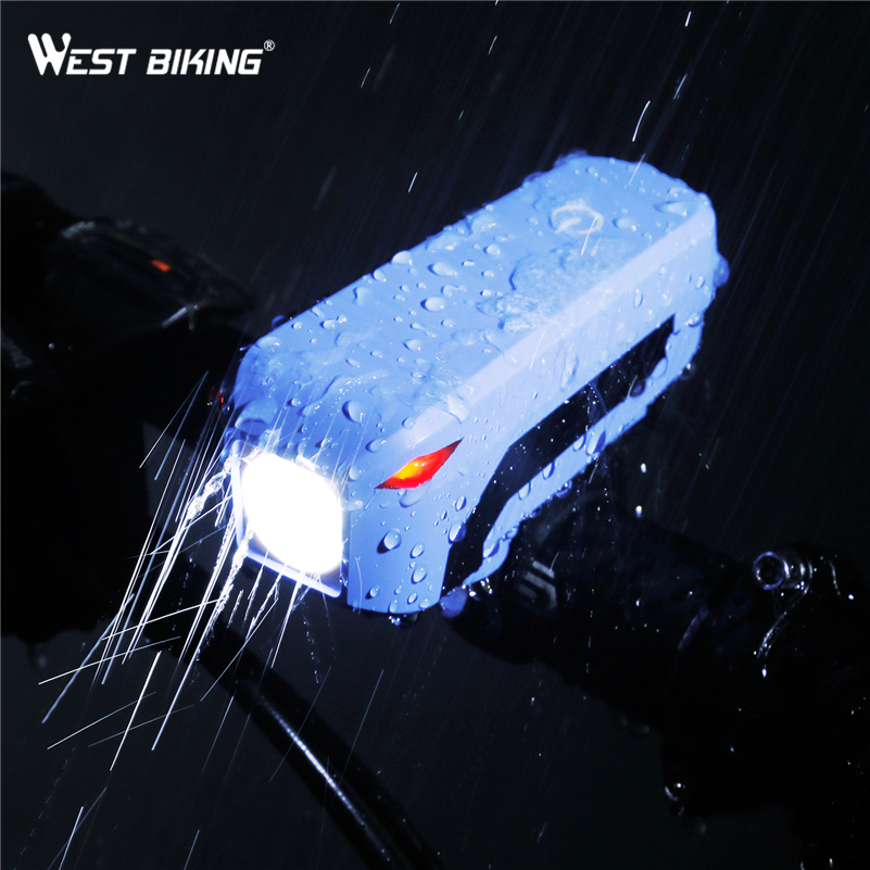 WEST BIKING Bike Horn Light Headlight USB Charging T6 Bicycle Bright 140dB Electric Horn Multifunction Cycling Accessories Light туфли nine west nwomaja 2015 1590
