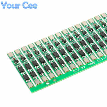 50 pcs 1S 3.7V 4A li-ion BMS PCM 18650 Battery Protection Board PCB for 18650 lithium ion li Battery Double MOS - Category 🛒 Electronic Components & Supplies