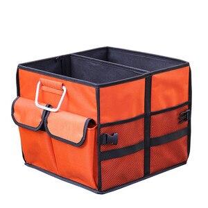 Image 4 - منظم صندوق السيارة العالمي أكسفورد SUV للطي أداة تنظيم حقيبة الطعام حقيبة تخزين السيارات القابلة للطي ملحقات غطاء الصندوق