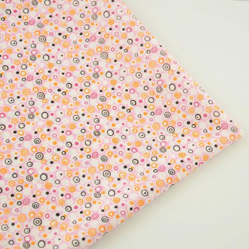 100% Tela de Algodón Rosa Claro Blanco y Negro Círculo de Diseño Textil Hogar De