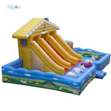 Inflatable Biggors Large Space Inflatable Slide Giant Jumping Bouncer For Kids Playing
