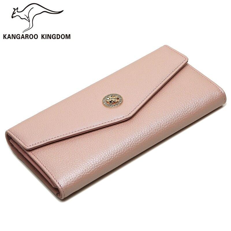 Kangaroo Kingdom Famous Brand font b Women b font font b Wallets b font Long Split