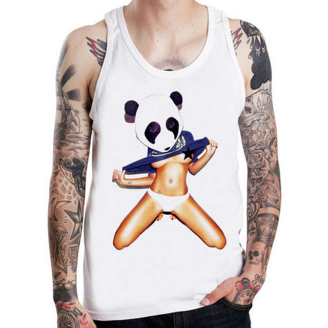 577bb471d489c3 Tank Tops Panda Girl Skate tattoo ink sexy street Muscle Shirt Sleeveless  Singlet Fitness Tank Top