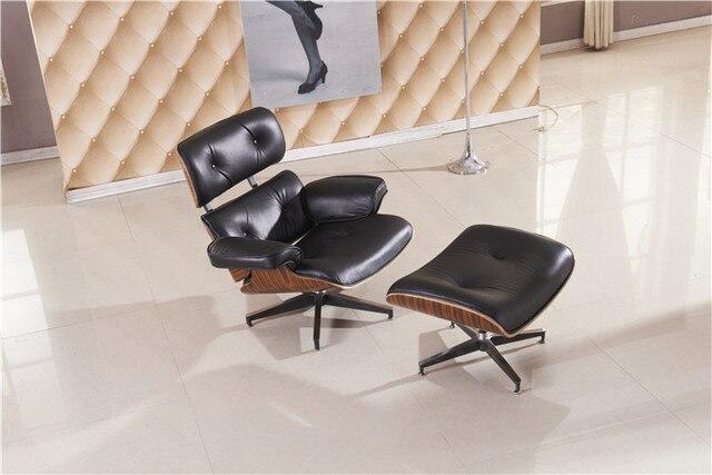Gratis verzending lounge stoel luxe volledige top grain lederen