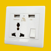 2 USB multi-function wall socket 2.1A global international universal panel