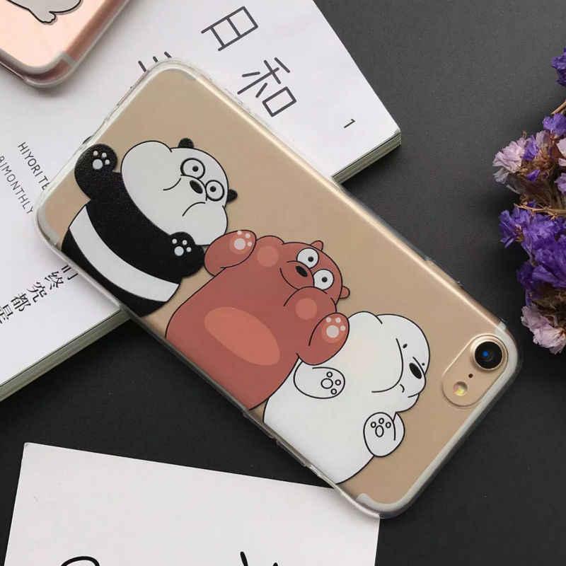 LOVECOM милый мультфильм Engorge Повтор панда Медведь Мягкий ТПУ Телефон задняя крышка чехол для iPhone XS XR XS Max X 5 5S SE 6 6S 7 8 Plus