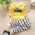 Otoño Invierno Recién Nacido Ropa de los bebés Fijó 2 UNIDS Ropa Del Bebé ropa Del Bebé fijada bebé ropa interior de Algodón niñas pijamas