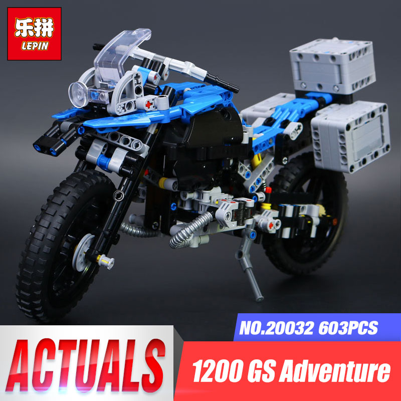 New 2017 Lepin 20032 Technic Series The BAMW Off-road Motorcycles R1200 GS Building Blocks Bricks Educational Toys Gifts 42063 decoo 3369 technic series the bamw off road motorcycles r1200 gs building blocks bricks educational toys lepin 20032 b11