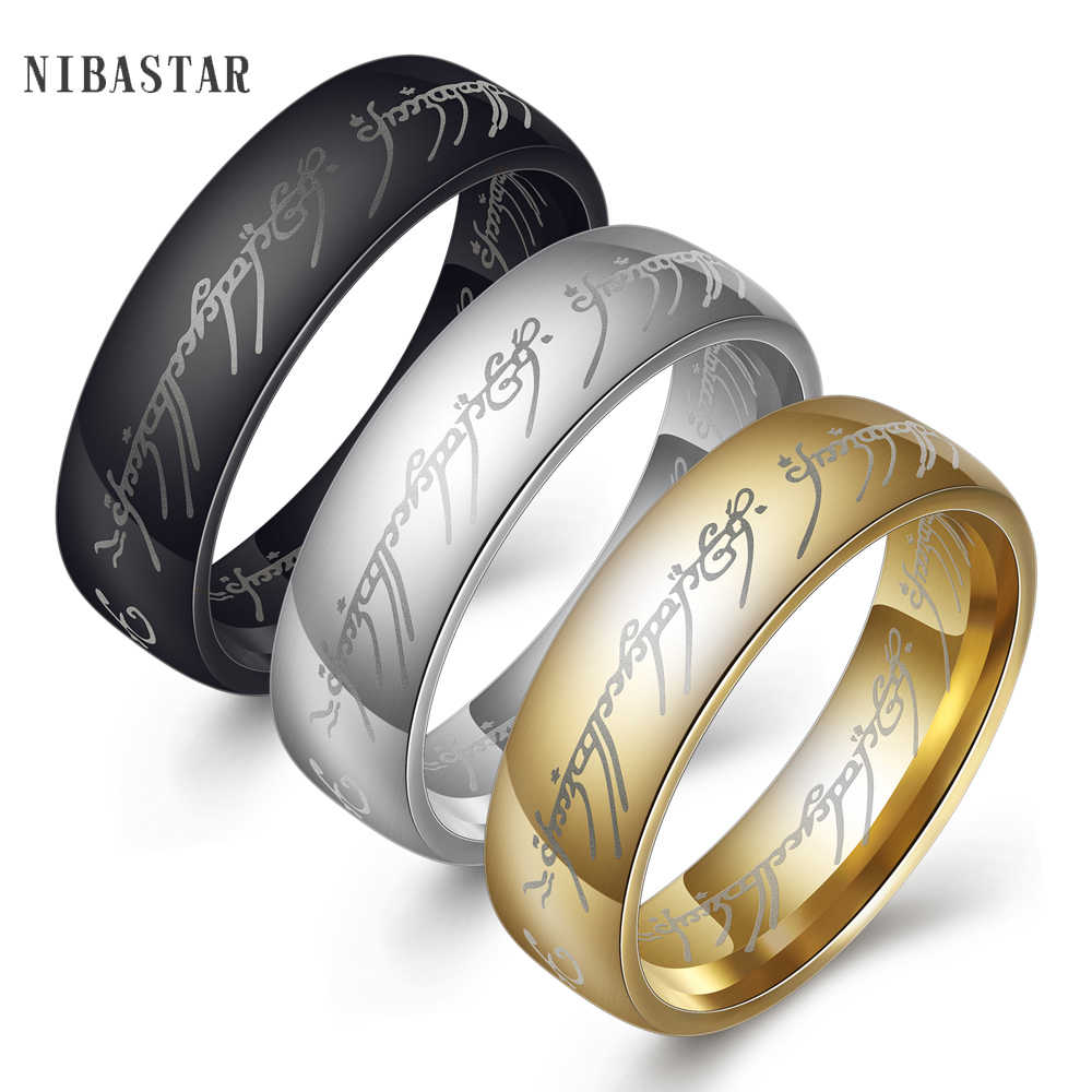 Fashion Style Unique Design 316l Stainless Steel Lord Of The Ring