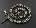 Huge Heavy Leather Metal Braided Jeans Keychain Biker Wallet Chain CS12 YL-66