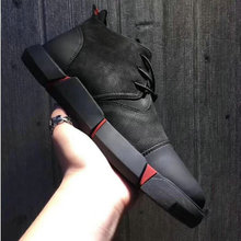NEW Brand High quality all Black Men's leather casual shoes Fashion Breathable Sneakers fashion flats  big plus size 45 46 LG-11