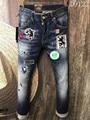 2017 Famous true rock wings Brand designer ripped Skinny biker pleated hole jeans for men Size d2 44 48 50 46 52