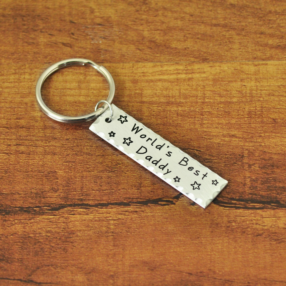 Personalized Fathers Day Gift Custom Keychain Gift For