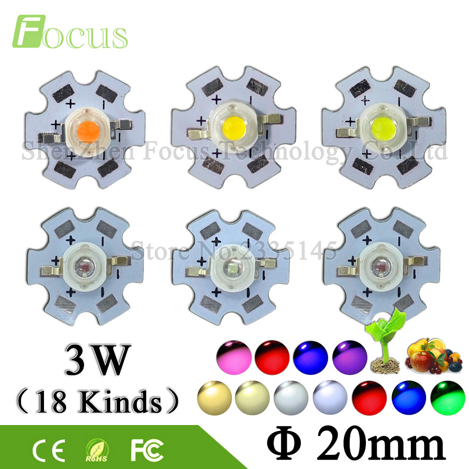 10pcs High Power LED Chip 1W 3W 5W Warm Cool White Red Blue Green Yellow Full Spectrum 660nm 440nm UV For Grow Light Aquarium high power led 1w 3w bulbs 30mli 45mli 1w 3w led chip rgb white warm white nature white red green blue light source