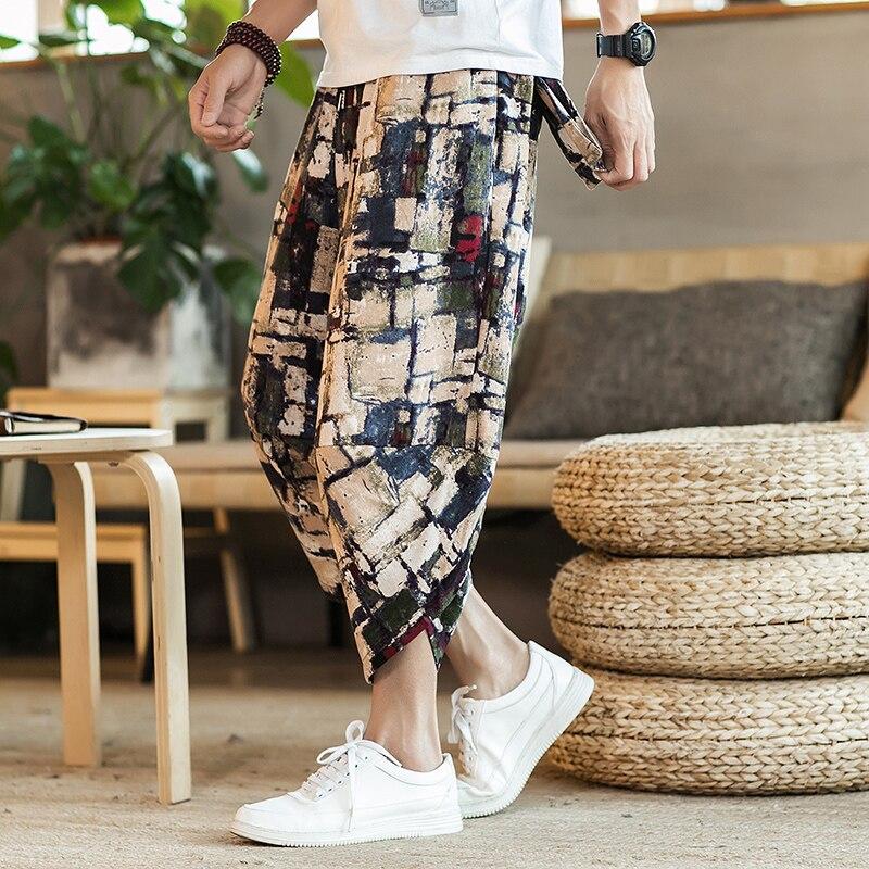 Полосатые спортивные штаны с трафаретным принтом, уличные мужские спортивные штаны с эластичной талией, спортивные штаны для бега - Цвет: color2