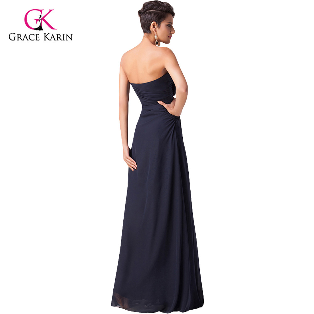 Blue Strapless Sweetheart Prom Dresses