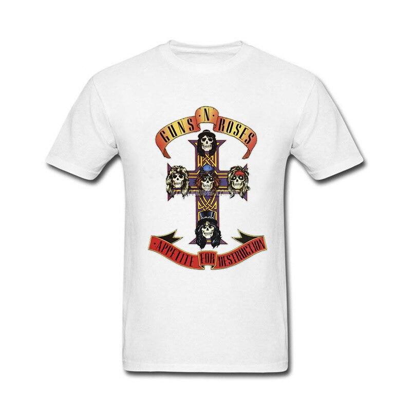 2018 Funny Hip Hop Printed Funny Guns N Roses Led Zeppelin Funny T Shirt for men