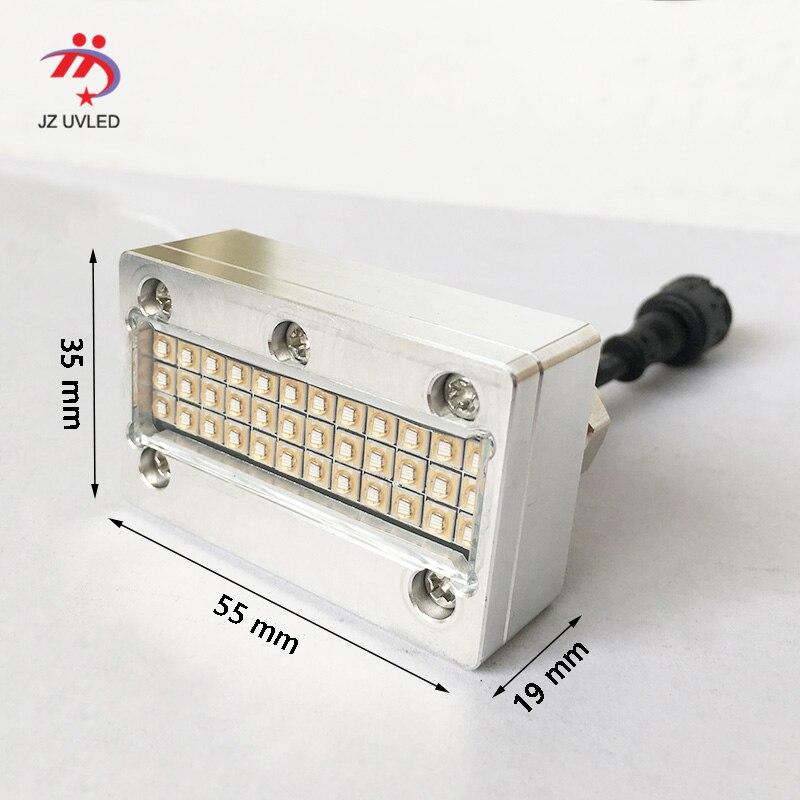 A tinta uv pequena que cura lâmpadas para a impressora uv do leito de uv6090 do ápice sunjet epson dx5 cabeça impressora a jato de tinta da foto cura 395nm cob uv conduziu a luz