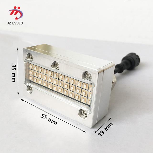 Small UV ink curing lamps for APEX UV6090 flatbed printer Sunjet Epson DX5 head Inkjet photo printer cure 395nm cob UV led light