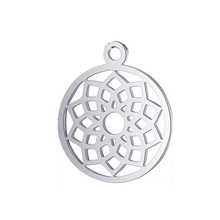 10pcs Real Stainless Steel Charms Yoga Lotus Pendant for Fashion Handmade DIY Jewelry Making Finding Accessories