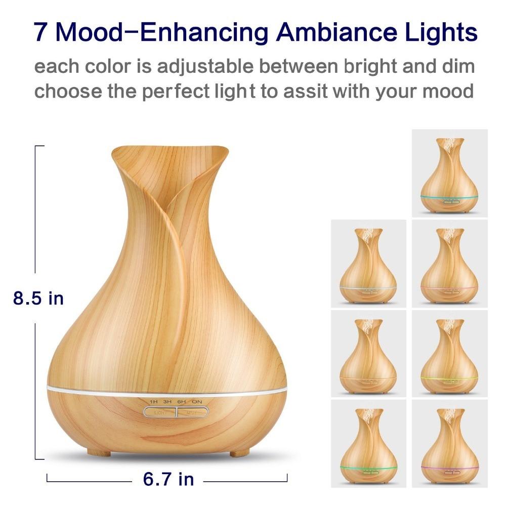 Aromacare 400ml vlažilni obliko vaze Les Grian Humidificador - Gospodinjski aparati - Fotografija 6