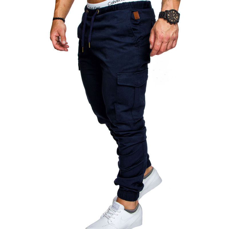 9 Colors 2018 Plus Size Men New Casual Pants Sporting Joggers Trousers Black Fitness Gym Clothing Pockets Leisure Sweatpants