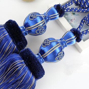 1 pair luxury curtain tieback European high quality hanging tied ball decoration tassel accessories tie tape back tiehold N134