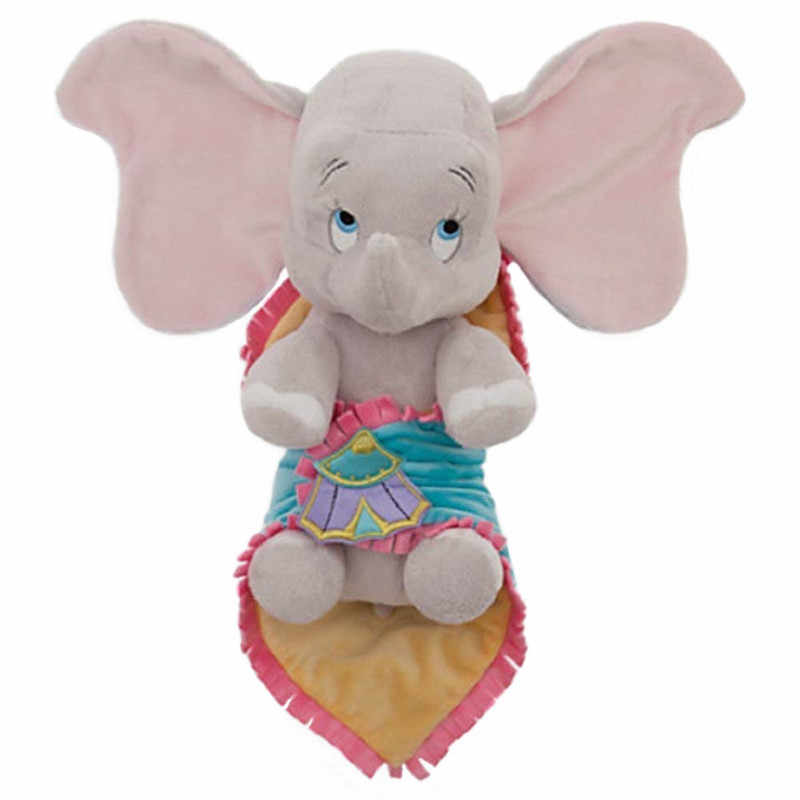 Cute Babies Dumbo Plush Toy in a Blanket 25cm 10'' Towel Swaddle Elephant Stuffed Animals Baby Kids Toys for Children Gifts