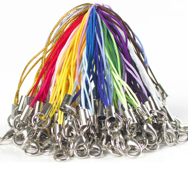 10Pcs Classic Metal Rope keychains for Phone Pendants Llaveros Chaveiro and Porte Clef Llaveros Mujer