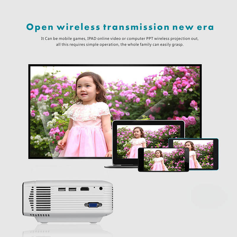 Newly Projector High Resolution Connect Smart Phone Durable For Home Cinema Theater Office