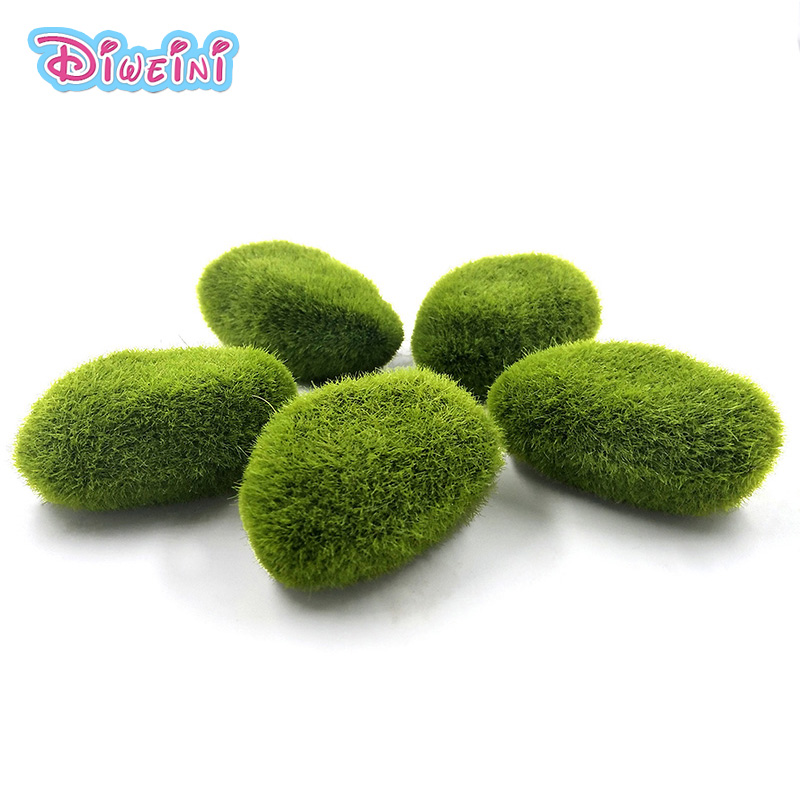 5 Pcs/bag Mini Simulation Green Grass Play House Toy Miniature Figures  Mini DIY Fairy Garden Statue Art Craft Kids Toy