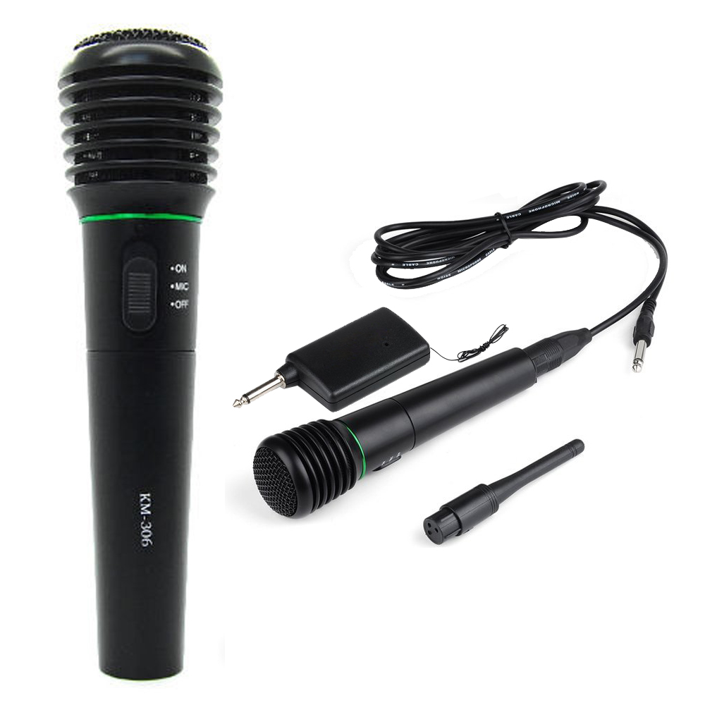 2in1 Wired/&Wireless Handheld Microphone Receiver Studio System