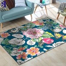 Sunnyrain 1 шт флисовый коврик с цветами для гостиной коврики