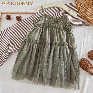 Image 2 - Miłość DD & MM dziewczyny sukienki 2019 letnie nowe ubrania dla dzieci dziewczyny w stylu zagranicznym bez rękawów siatki procy księżniczka sukienka