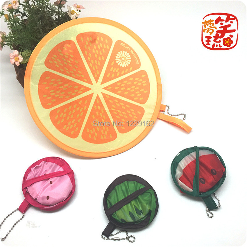 Free shipping (4pcs/lot)Nylon Portable Folding Fan for party gift Fruit Fan cool summer lovely hand fan/Flying disk