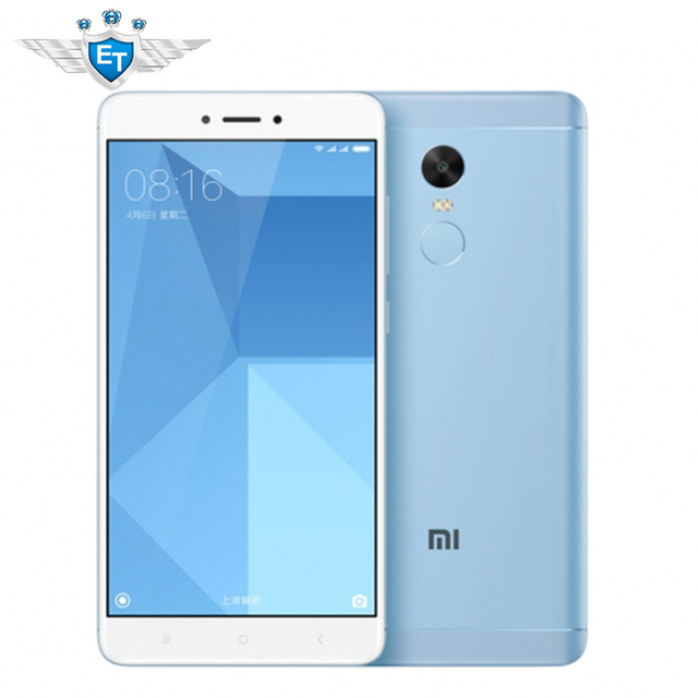 """Оригинальный Xiaomi Redmi Note 4X мобильный телефон Snapdragon 625 Octa core 4 ГБ 64 ГБ 5.5 """"FHD 13MP отпечатков пальцев Глобальная прошивка Miui 8.2"""