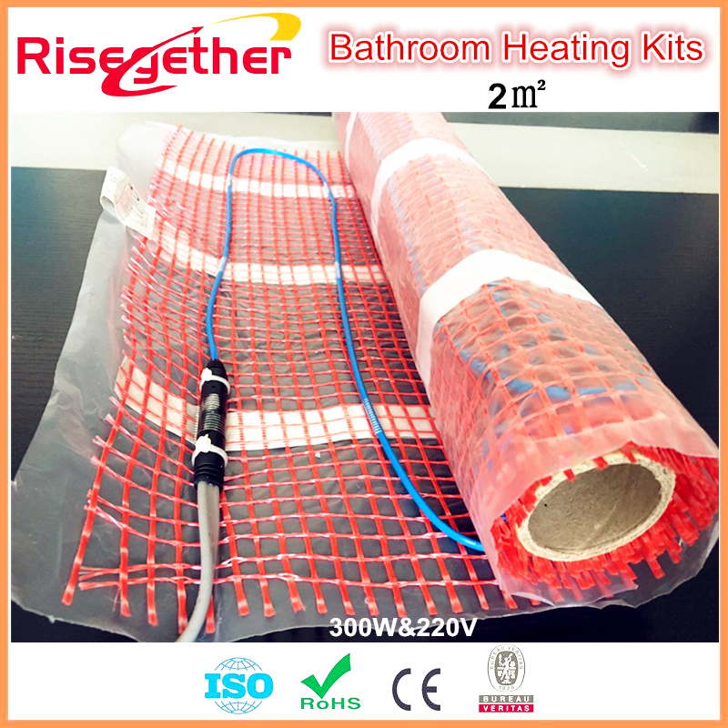 GALAXY Under Tile/Floor Heating System Electric Heating Mat With Thermostat Mini Room Foot Warm Heater For Bathroom Floor Heater hy02tp 16a thermostat socket for room electric floor heating system lcd display digital room plug in thermostat