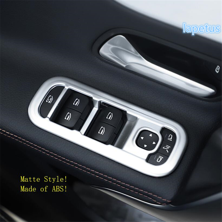 Lapetus Inner Door Armrest Window Switch Control Decoration Cover Kit ABS Fit For Mercedes Benz A Class W177 <font><b>A200</b></font> A220 <font><b>2019</b></font> 2020 image