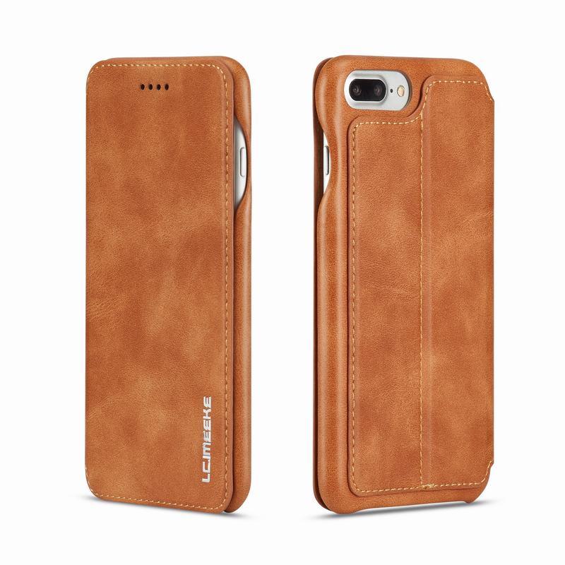 Für Iphone 7 Fall Leder Luxus Flip Abdeckung Iphone 7 Plus Coque Brieftasche Ständer Abdeckung Business Telefon Fall Für Apple Iphone 7 Plus Ich